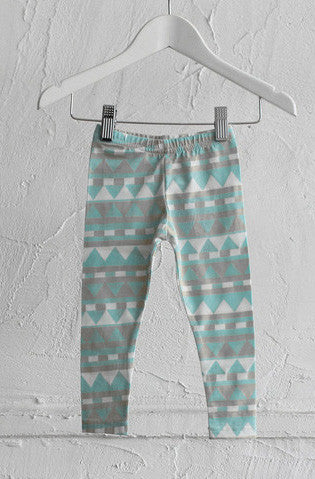 Classic Leggings - Mint Geometric - Tui B
