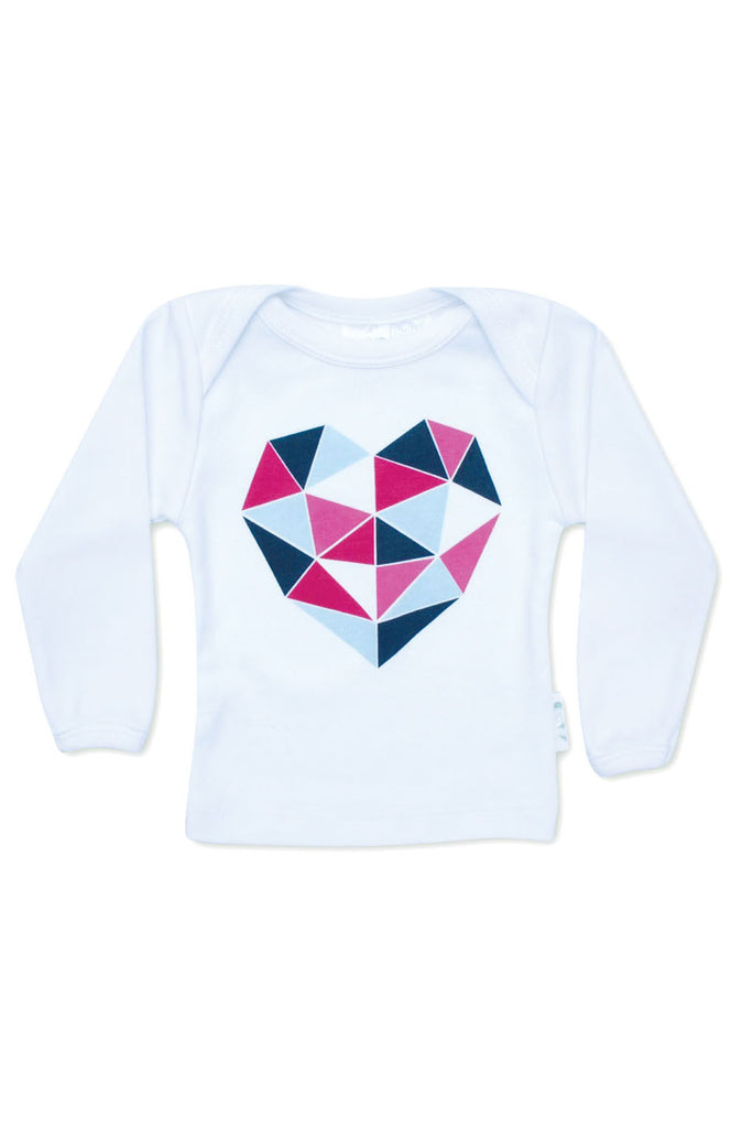 Geo Heart Long Sleeve Tee - Tui B - 1