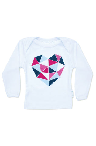 Geo Heart Long Sleeve Tee
