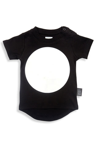 Drop Back T-Shirt - Black Big Dot