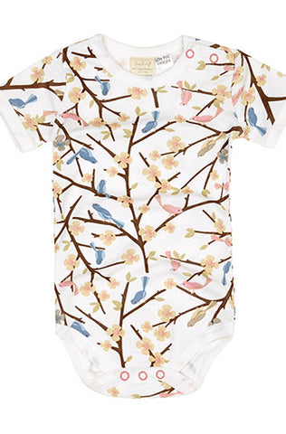 Short Sleeve Bodysuit - Bird In Tree