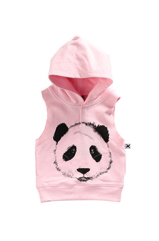 Painted Panda Sleeveless Hood
