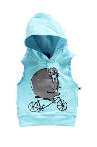 Riding Walrus Sleeveless Hood