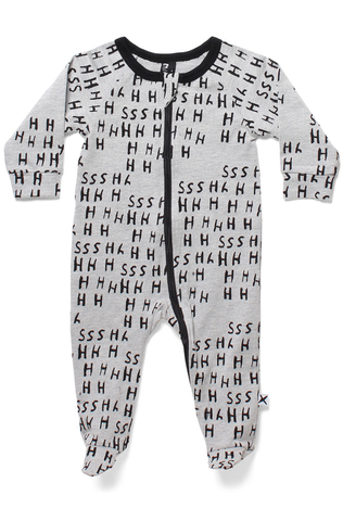 Minti Shhh Zippy Jumpsuit - Grey