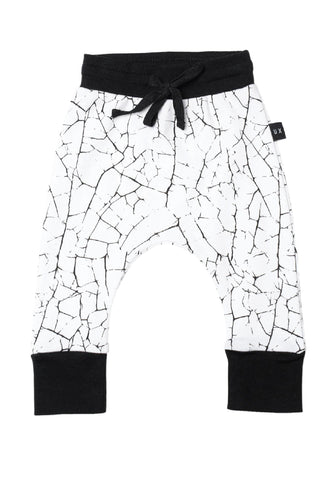 Paint Crack Drop Crotch Bottoms - Huxbaby