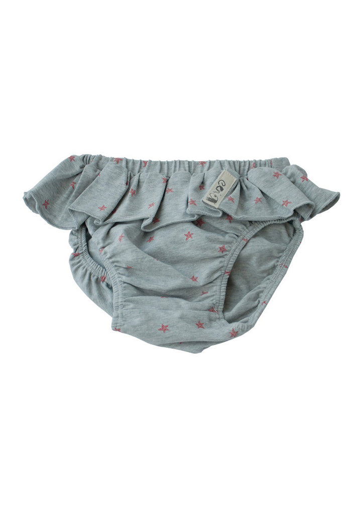 Bloomer - Grey Marle + Watermelon Print - Tui B - 1