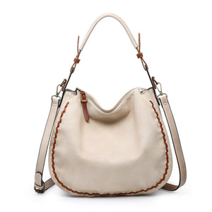 Dallas Contrast Stitch Hobo Bag