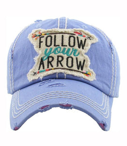 Follow Your Arrow Vintage Hat