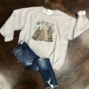 Leopard Christmas Tree Sweatshirt
