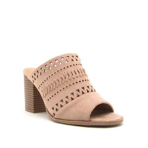 Taupe Suede Mule