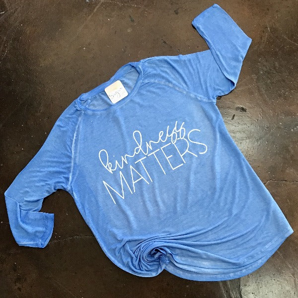 Kindness Matters Oasis Wash Graphic Tee
