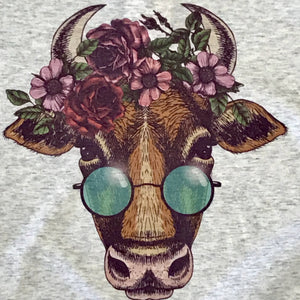 Hippie Cow Graphic Tee