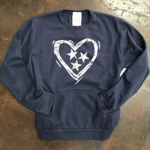Tennessee Heart Tri-Star - Navy