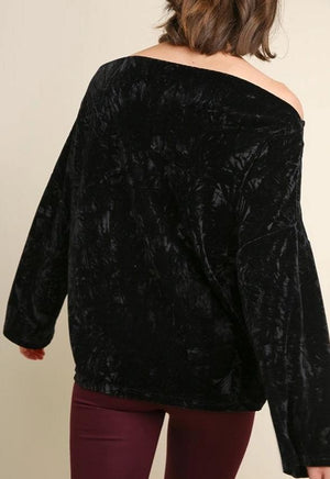 Crushed Velvet Floral Top