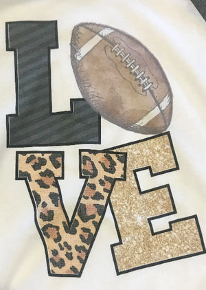 Football LOVE - Graphic Raglan