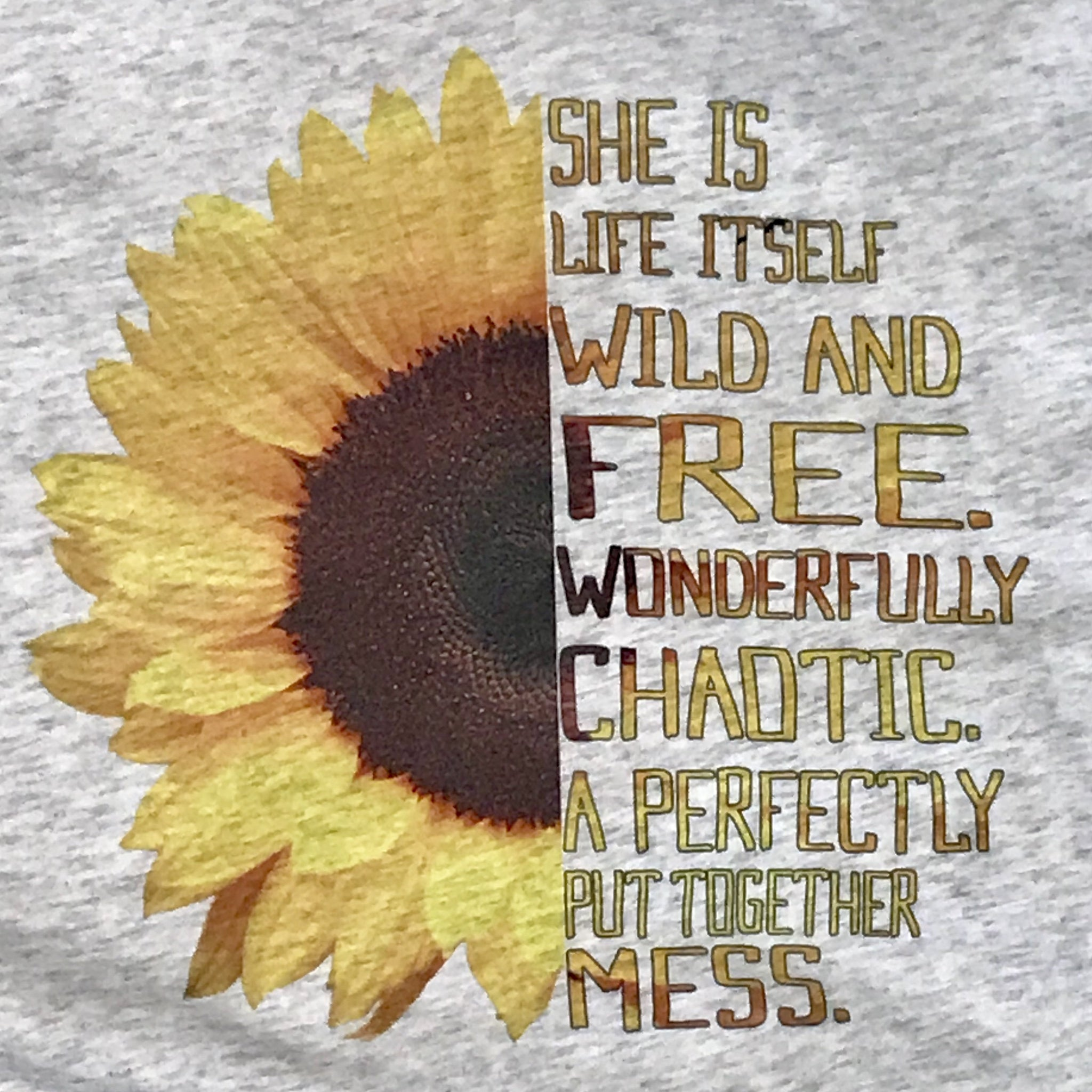 She Is Life Itself, Wild and Free Graphic Tee