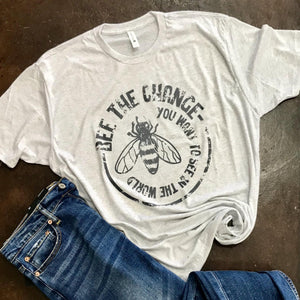 Bee The Change Graphic Tee