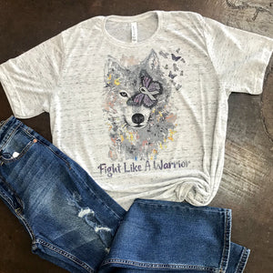 Fight Like A Warrior-Brain Cancer Awareness Graphic Tee