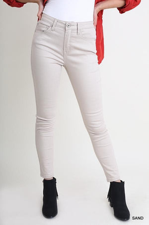 5 Pocket Stretch Skinny Jeans - Sand
