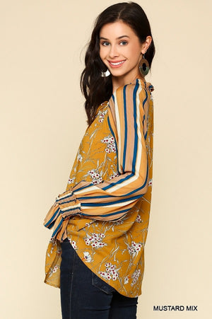 Goldenrod Peasant Top