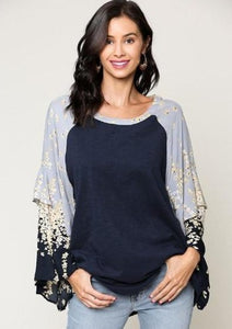 Field of Flowers Scoop Neck Top