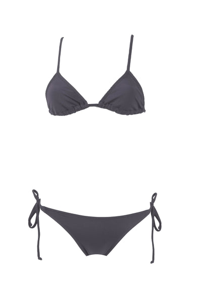 Smoke // Bralette + Brazilian Whale Tail Side Tie Scrunch Bottom