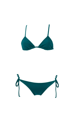 Seascape Blue // Bralette + Brazilian Whale Tail Side Tie Scrunch Bottom