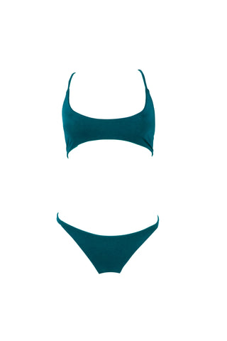 Seascape Blue // Action Top + Seamless Brazilian Bottom