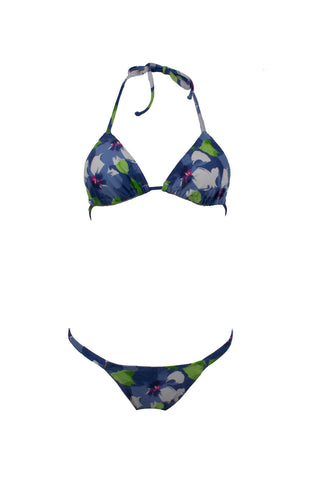 This Watercolor World// Triangle Halter Top + Brazilian Hipster Scrunch Bottom