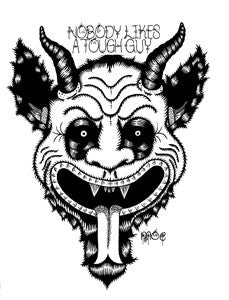 "Sticker: Moe's ""Nobody Likes A Tough Guy"" Krampus"