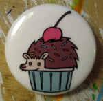 Pin: Hedgehog Cupcake by Nation Of Amanda (1.25 inch)