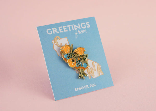 Enamel Pin: Golden Poppies by Sarah Duyer