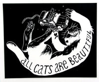Sticker: All Cats Are Beautiful (ACAB) by Ben Passmore