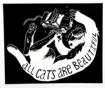 Pullover Hooded Sweatshirt: All Cats Are Beautiful by Ben Passmore