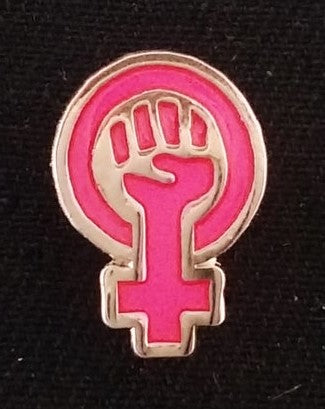 Enamel Pin: Fem Fist by JXRXKX