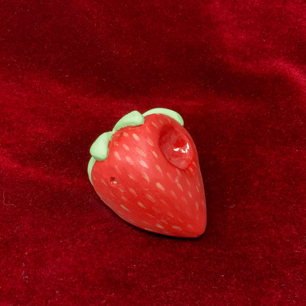 Strawberry Ceramic Pipe by Sarah Duyer
