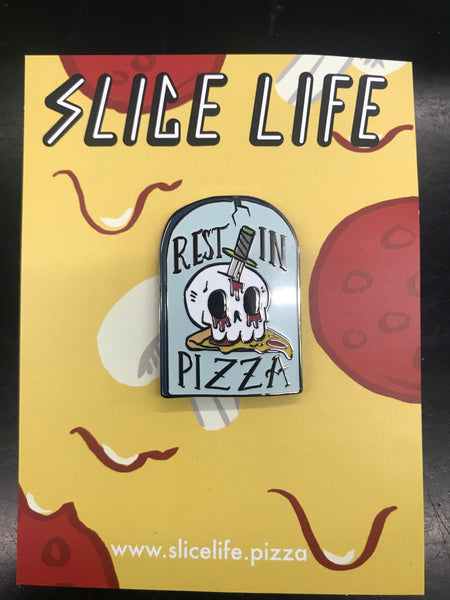 Enamel Pin: Rest in Pizza Tombstone by Josh PM