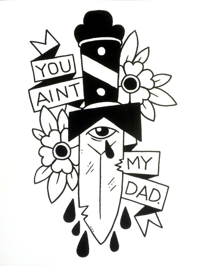 Sticker: You Ain't My Dad by Michael Sweater