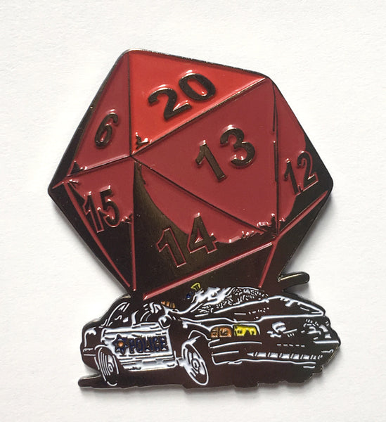Enamel Pin: D20 Critical Hit