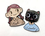 Enamel Pin: Best Friends (set) by Benji Nate