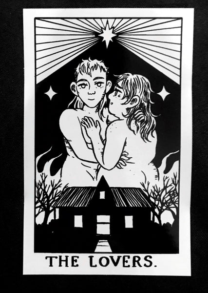 Sticker: The Lovers by Ashley Robin Franklin