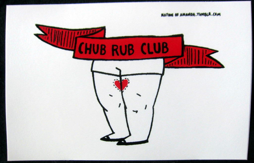 Sticker: Chub Rub Club - by Nation Of Amanda
