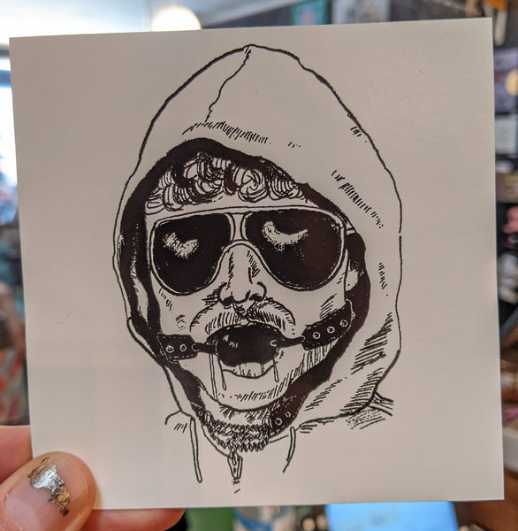 Unabomber Ball-Gag sticker by Ferin Fick