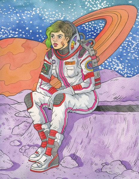 Print: Space Punk by Jenn Woodall