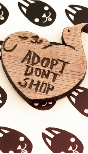 Adopt Don't Shop Keychain by Alicia Cardel