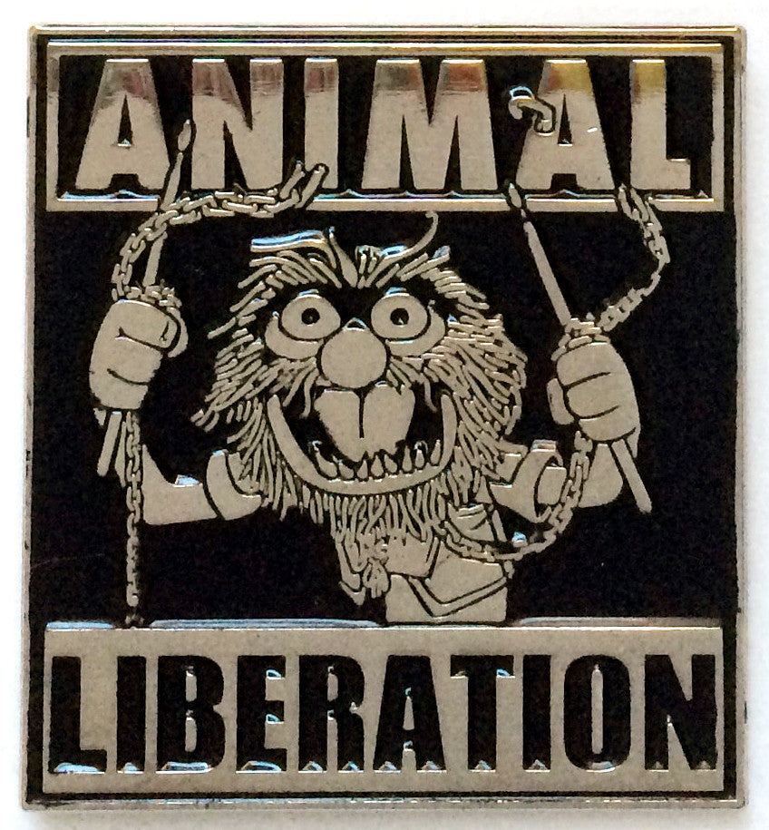 Enamel Pin: Animal Liberation by Joshum