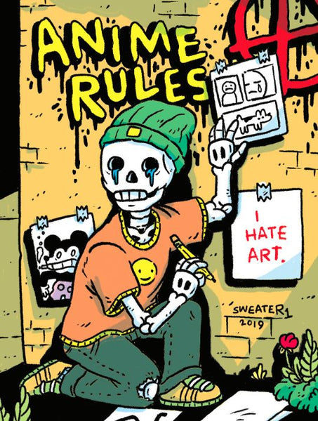 Print: Anime Rules I Hate Art by Michael Sweater