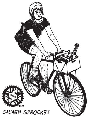 Sticker: SSBC Bike Babe by Charlotte Drury