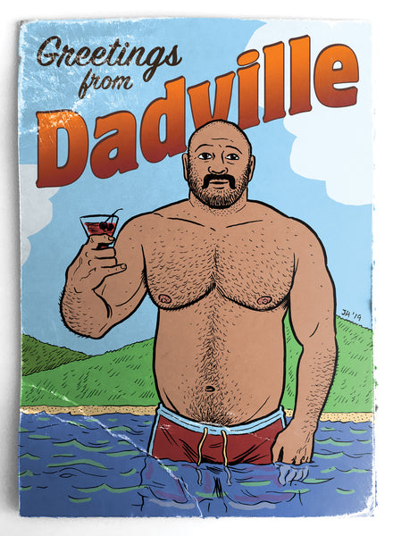 Cheers Dad - Greeting card by Justin Hall