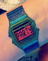 Party Time Watch Temporary Tattoo (x2)